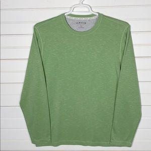 Orvis Long Sleeve Slub Tee Shirt Size Medium